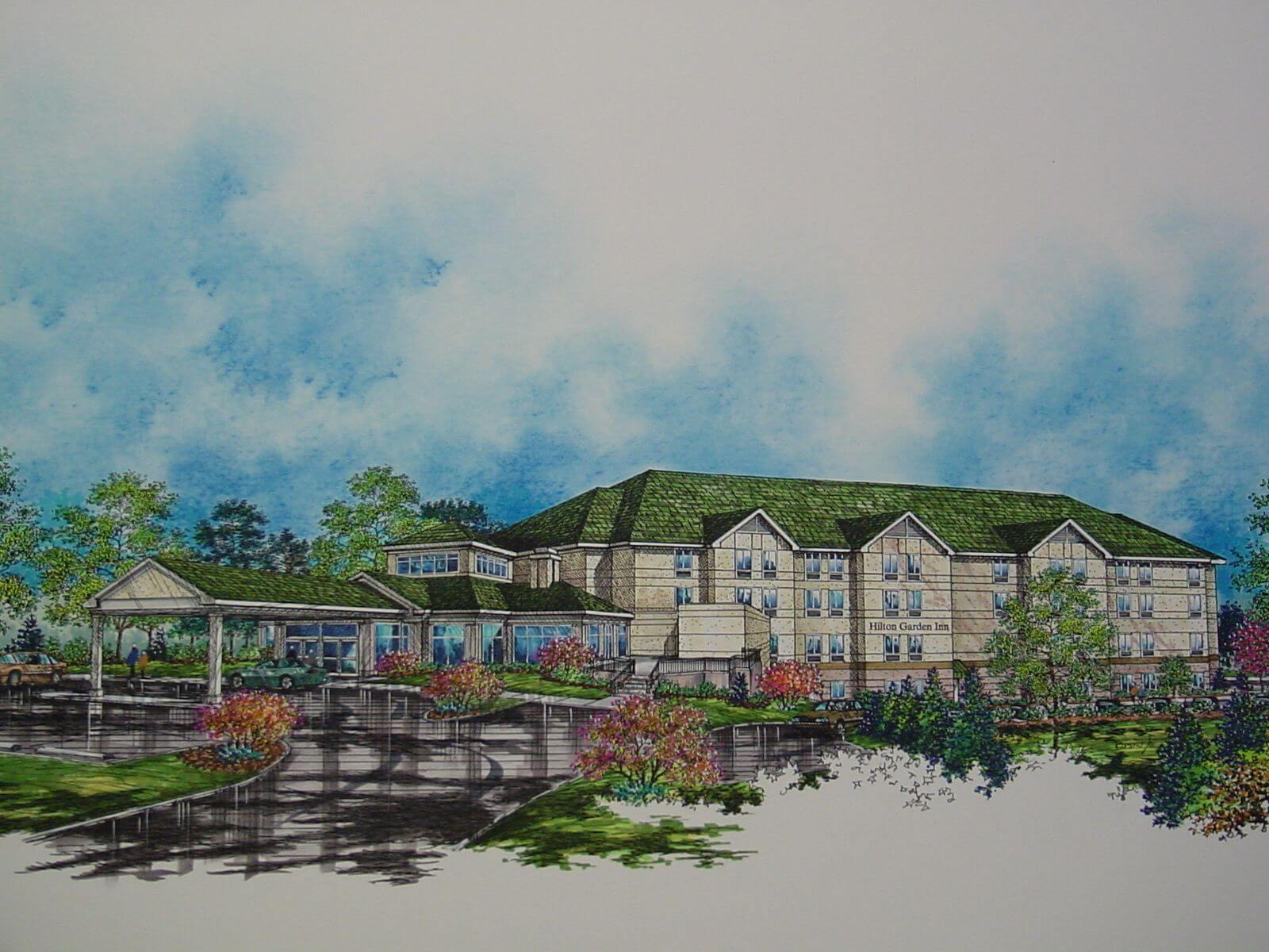 hilton garden inn before concept drawing, asset management